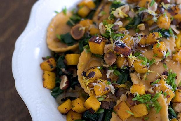 Hazelnut & Chard Ravioli Salad