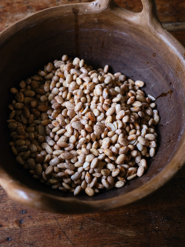 Pinto Beans in a Clay Pot