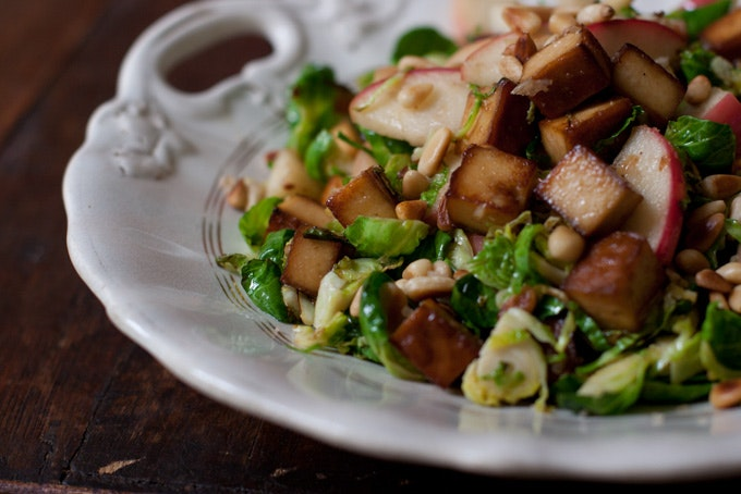 Shredded Brussels Sprouts & Apples