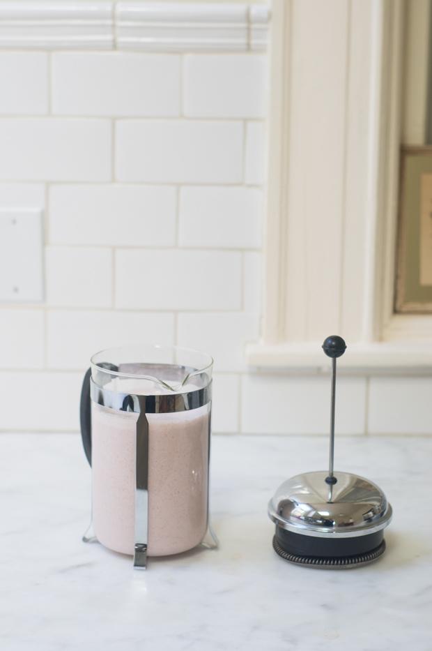 Homemade Strawberry Almond Milk Recipe