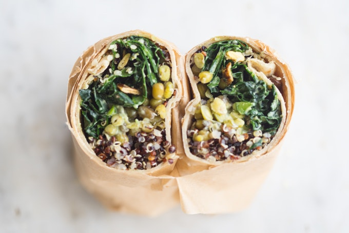 Make Ahead Super Green Vegan Quinoa Burritos Recipe