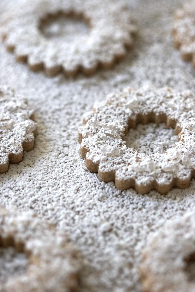 Swedish Rye Cookies on Baking Sheet