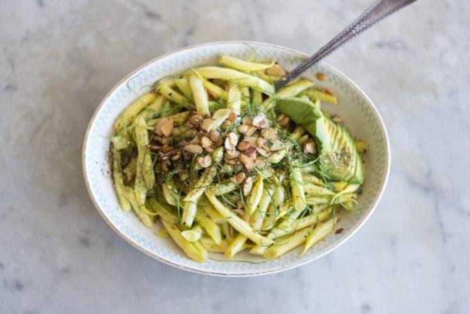 Yellow Wax Beans & Scallions Recipe